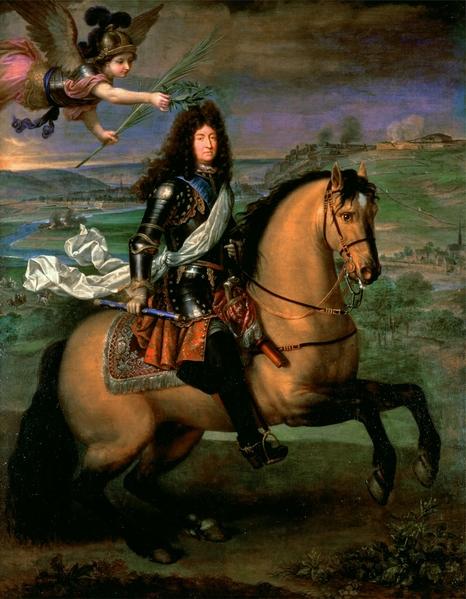 路易十四(1638-1715)加冕胜利,马术肖像油画。(维基百科公有领域)