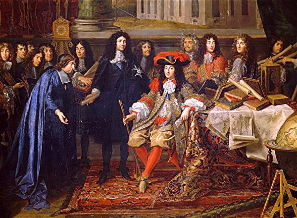 在1667年,路易十四的皇家艺术学院的成员。(维基百科公共领域)