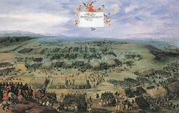 三十年战争白山战役。(维基百科公共领域)