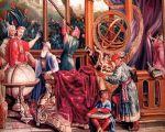 1690-1705 耶穌會士天文學家和康熙大帝織錦畫。(波維絲出產/公共領域)