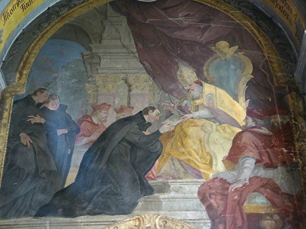 《通过耶稣会规章壁画》(公共领域)