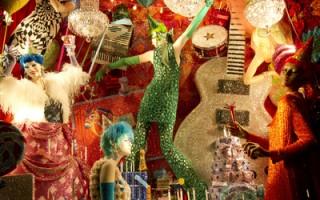 纽约第五大道奢华百货公司Bergdorf Goodman倾情打造的2015年圣诞橱窗秀。(孙华/大纪元)