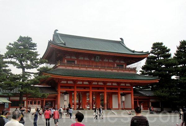 京都平安神宮(藍海/大紀元)