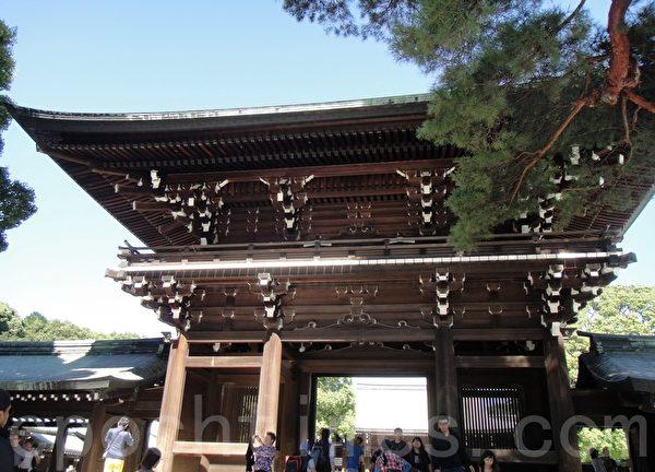 神宮建築-斗拱結構-沒有釘子(藍海/大紀元)