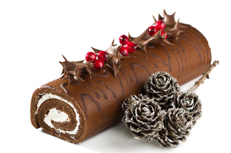 法国传统圣诞甜点:劈柴蛋糕