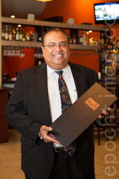 Roti印度餐館的老闆Sunny。(李歐/大紀元)