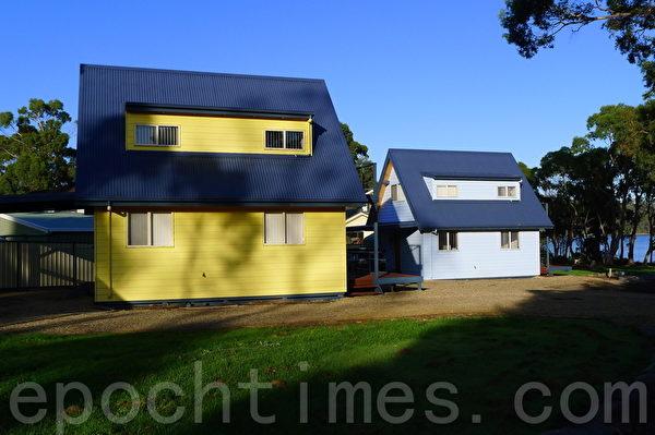 就像童话故事里的小木房,木房是由塔斯玛尼亚橡树木修建(华苜/大纪元)