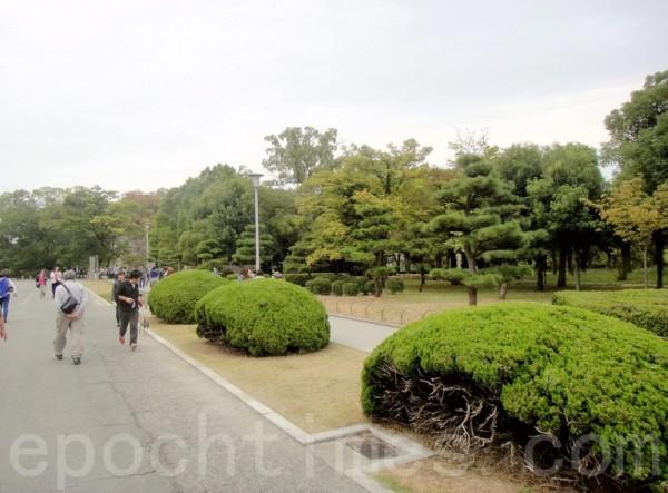大阪城外景(藍海/大紀元)