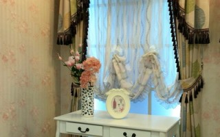 窗纱帘搭配造型,更显富丽堂皇。 (图:隆美窗帘提供)