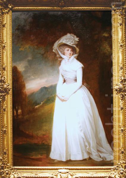 十八世纪欧洲淑女典范。英国部长之女Penelope Lee Acton,1791年绘制(翻摄:Juliet Zhu/大纪元, 还原美编:Jiang,Wenjia姜文佳)(图片来源: The Huntington Library, Art Collections)