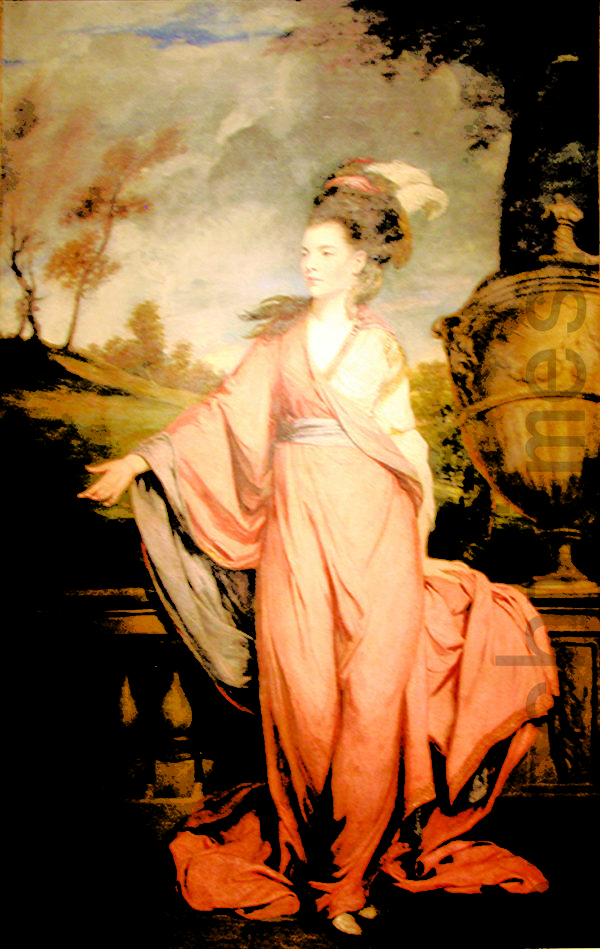 十八世纪欧洲淑女风范。未来的Harrington伯爵夫人,1778年绘制。(翻摄:Juliet Zhu/大纪元, 还原美编:Jiang,Wenjia)(图片来源: The Huntington Library, Art Collections)