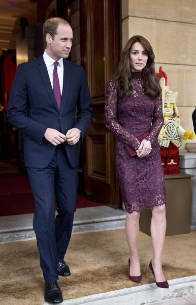 """10月21日凯特与威廉出席在兰开斯特宫一个""""英国和中国的创意合作""""活动。  ( Heathcliff O'Malley - WPA Pool/Getty Images)"""