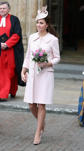 3月9日凯特参加在威斯敏斯特教堂举行的英联邦日服务(Observance for Commonwealth Day Service)。 ( Chris Jackson/Getty Images)