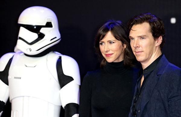 康伯巴奇與愛妻亨特。(Chris Jackson/Getty Images for Matchless)