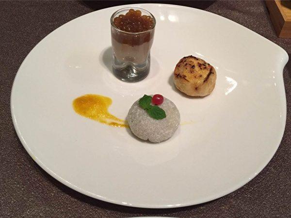 甜品:珍珠奶茶風味豆花、情人果雪莓娘、木瓜銀耳塔。(嘉義市政府提供)