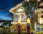 組圖:加州聖誕燈飾一條街 趕搭星戰風