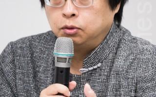 華人民主書院董事曾建元表示,台灣要多關心中國,並維護台灣民主,證明中國人也能過民主生活。(陳柏州/大紀元)