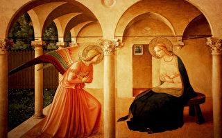 安吉利可神父的《天使报佳音》(维基百科公有领域)