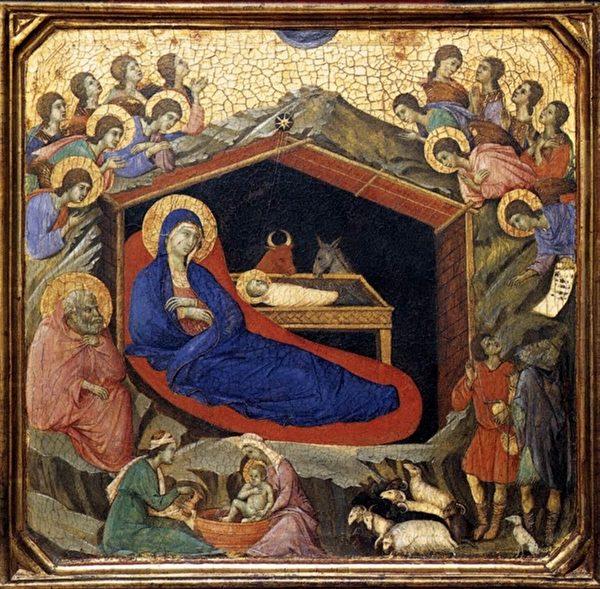 杜乔·迪·博尼塞尼亚的作品《耶稣诞生》(维基百科公有领域)