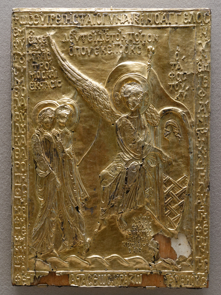 圣墓教堂中装圣物的容器浮雕金版。卢浮宫藏。(维基百科公有领域)
