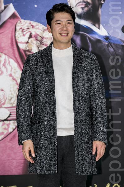 12月28日,韓國電視台KBS大河電視劇《蔣英實》製作發布會在首爾永登浦區舉行。圖為金相慶。(全景林/大紀元)