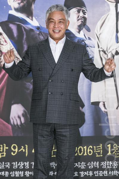 12月28日,韓國電視台KBS大河電視劇《蔣英實》製作發布會在首爾永登浦區舉行電視劇。圖為金永哲。(全景林/大紀元)