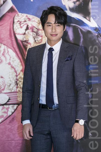 12月28日,韓國電視台KBS大河電視劇《蔣英實》製作發布會在首爾永登浦區舉行。圖為李智勳。(全景林/大紀元)