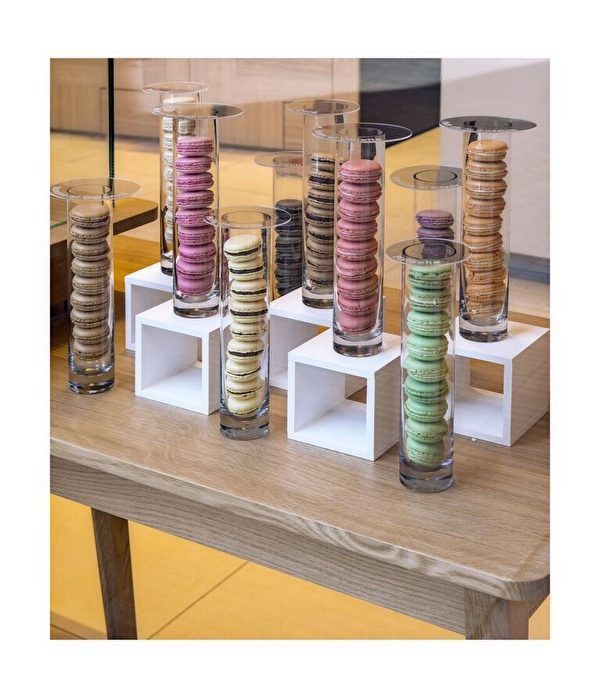 Galler推出的馬卡龍系列精緻的外表好像甜品中的一枚珠寶。(Galler提供)