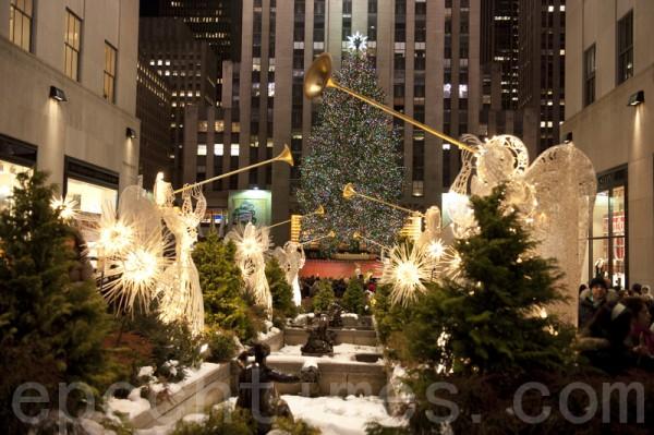 纽约洛克斐勒中心圣诞节(戴兵/大纪元)