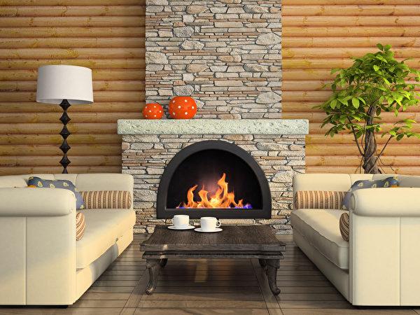 瓦斯壁炉是现在最抢手的家居设备。(fotolia)
