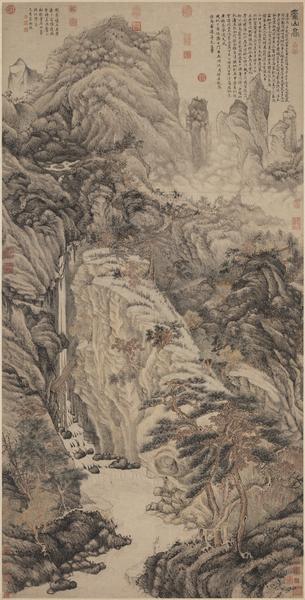 明 沈周 庐山。(国立故宫博物院)