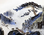 山地景观与松树和雾(fotolia)