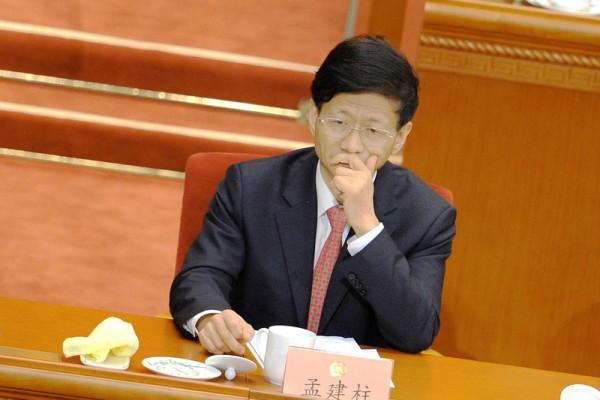近日網上盛傳中共政法委書記孟建柱的各種醜聞。(WANG ZHAO/AFP/Getty Images)