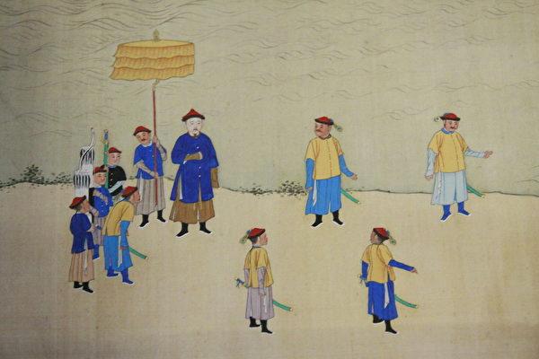 《康熙南巡图》局部(维基百科公共领域)
