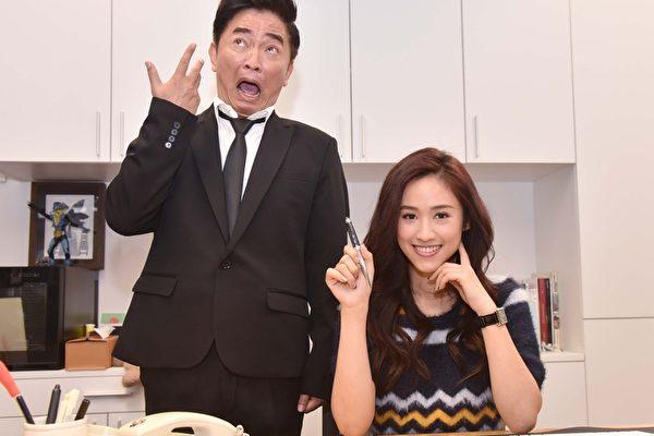 吴宗宪与女儿Sandy1月2日一起现身为新节目《小明星大跟班》拍摄宣传影片。(中天提供)