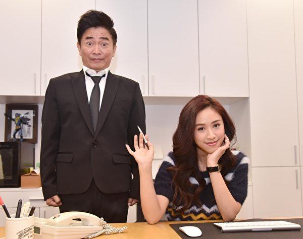 Sandy饰演总经理,吴宗宪演她的小跟班。(中天提供)