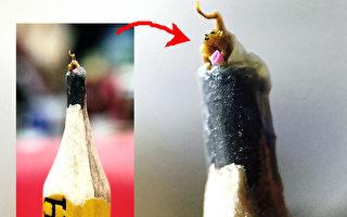 1公厘毫雕奇观 世界最小猴呈桃献瑞
