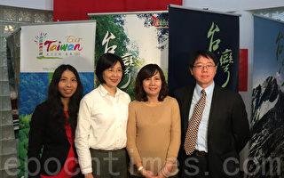 從左至右:紐約僑教中心即將榮調回臺的副主任譚雪珍、履新副主任王盈蓉、主任王映陽、副主任張希賢。(林丹/大紀元)