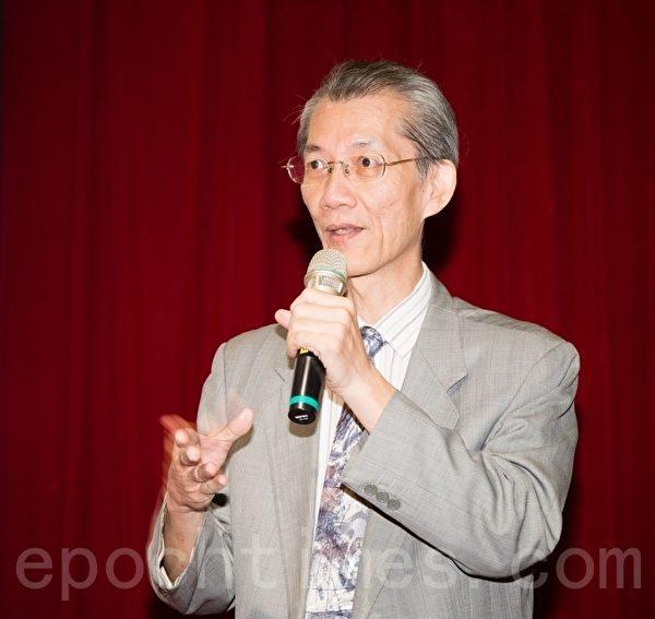 台大政治系教授明居正。  (郑顺利/大纪元)