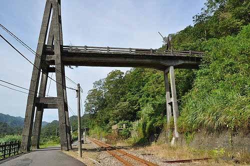 车站附近的庆和吊桥遗迹。 (图片提供:tony)