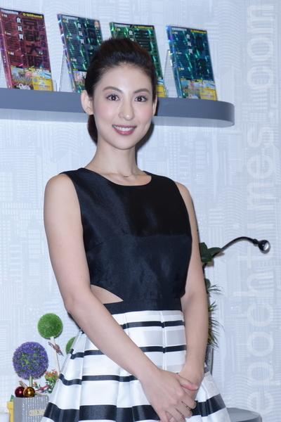 台湾电视剧《幸福不二家》于2016年1月12日在台北演员媒体见面会。图为大久保麻梨。(黄宗茂/大纪元)