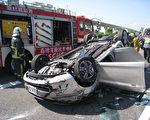 台中市交通局經統計,104年發生A1+A2類交通事故共5.3萬件,較103年減少3千多件,整體傷亡人數共減少5千人。(台中市消防局提供)