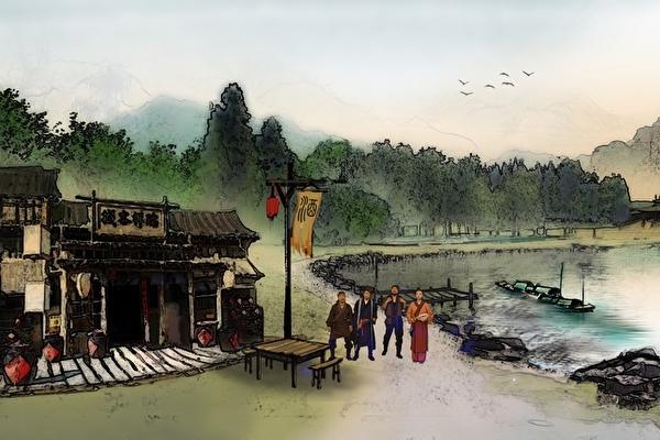 由加拿大新境界影视公司和新唐人电视台联合制作的大型系列穿越剧《雷人水浒》剧照。(新唐人电视台提供)