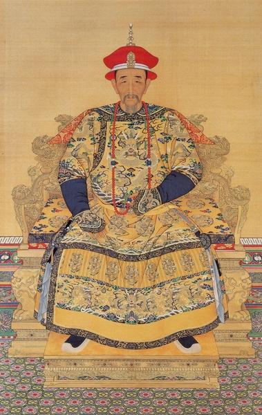 康熙大帝,宮廷畫家繪(維基百科公共領域)