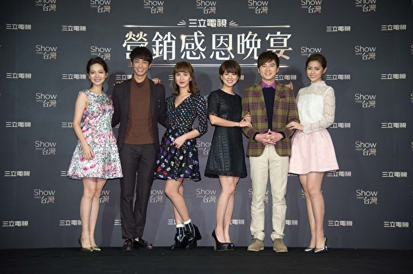 圖為曾之喬(左起)、劉以豪、魏蔓、林予晞、李國毅、任容萱。(三立提供)