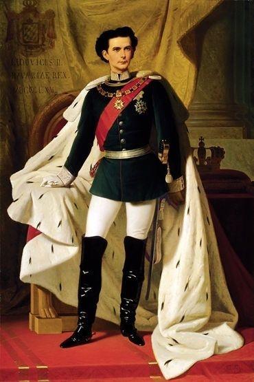 20岁的路德维希二世,Ferdinand von Piloty画, 1865年。(维基百科公共领域)