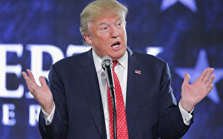 美国共和党总统参选人川普。 (NICHOLAS KAMM/AFP/Getty Images)