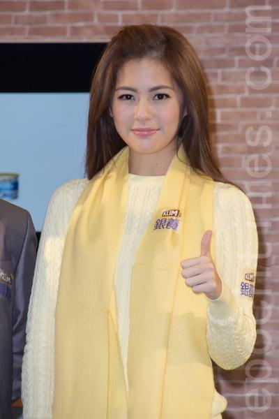 任容萱于1月22日在台北出席奶粉活动。(黄宗茂/大纪元)