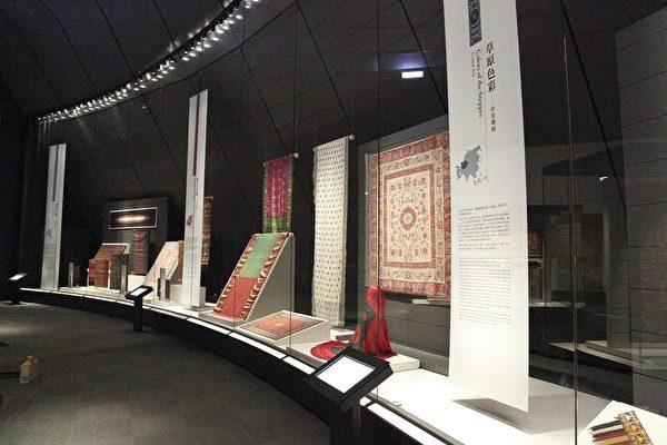 故宮南院農曆新年期間展出的十大首展之一,「錦繡繽紛—院藏亞洲織品展」。(國立故宮博物院提供)