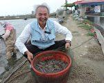 擁有獸醫師及中醫師雙重身份的劉水木,堅持零用藥養殖白蝦,提供消費者安全的水產品。(高市農業局提供)